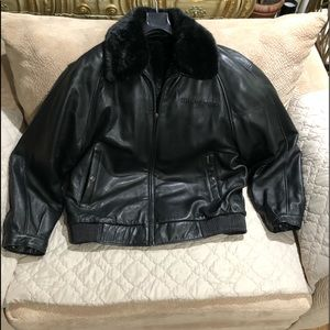 Phat Farm Vintage Reversible Leather Bomber